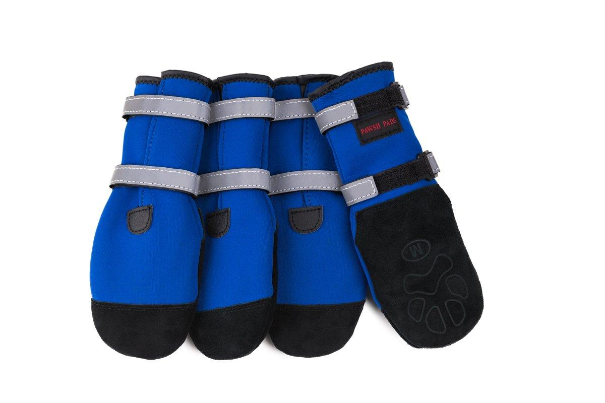 Pawsh Pads Paw Protectors Dog Boots, Blue, Large