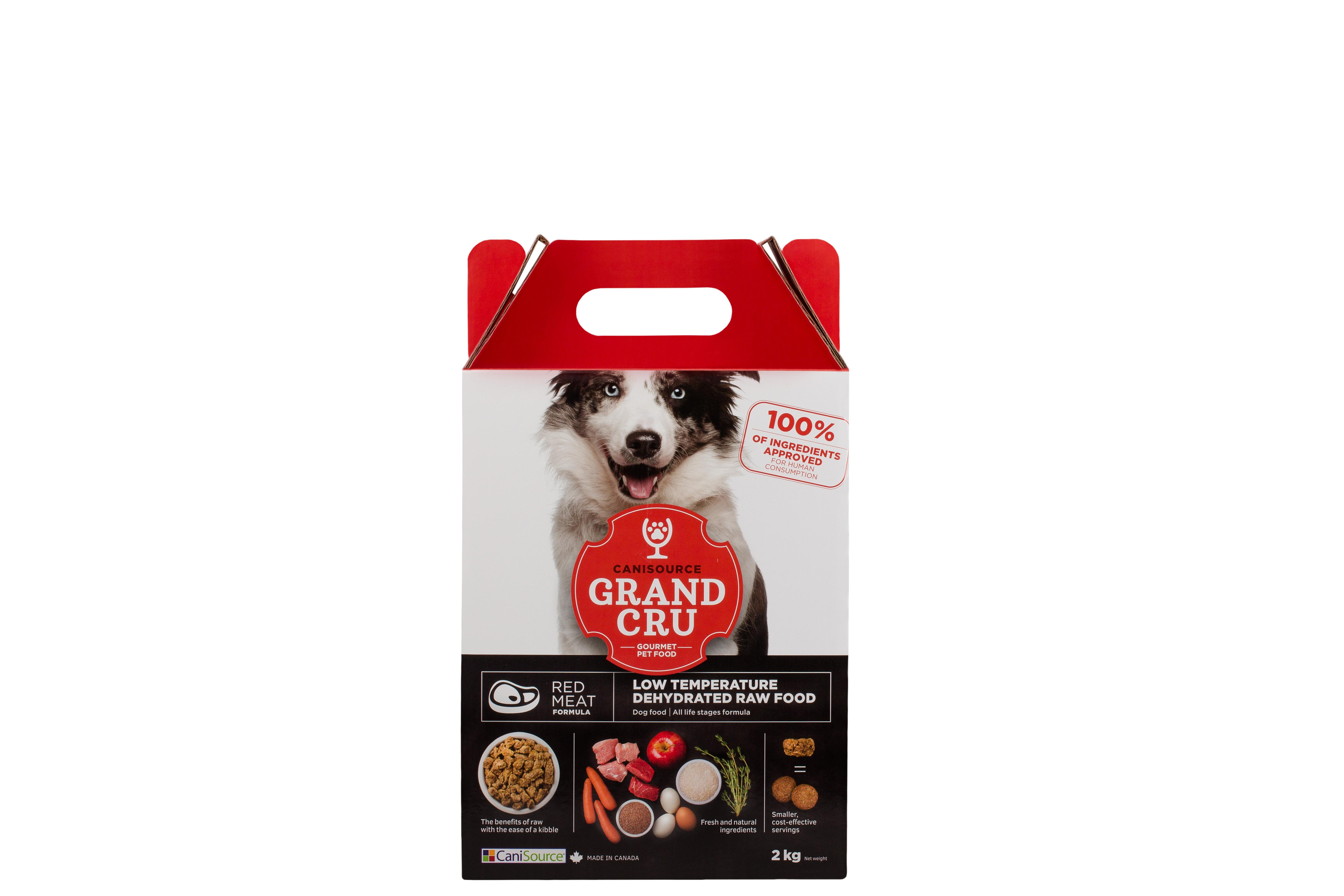 CaniSource Grand Cru Red Meat Formula Dehydrated Dog Food, 2-kg