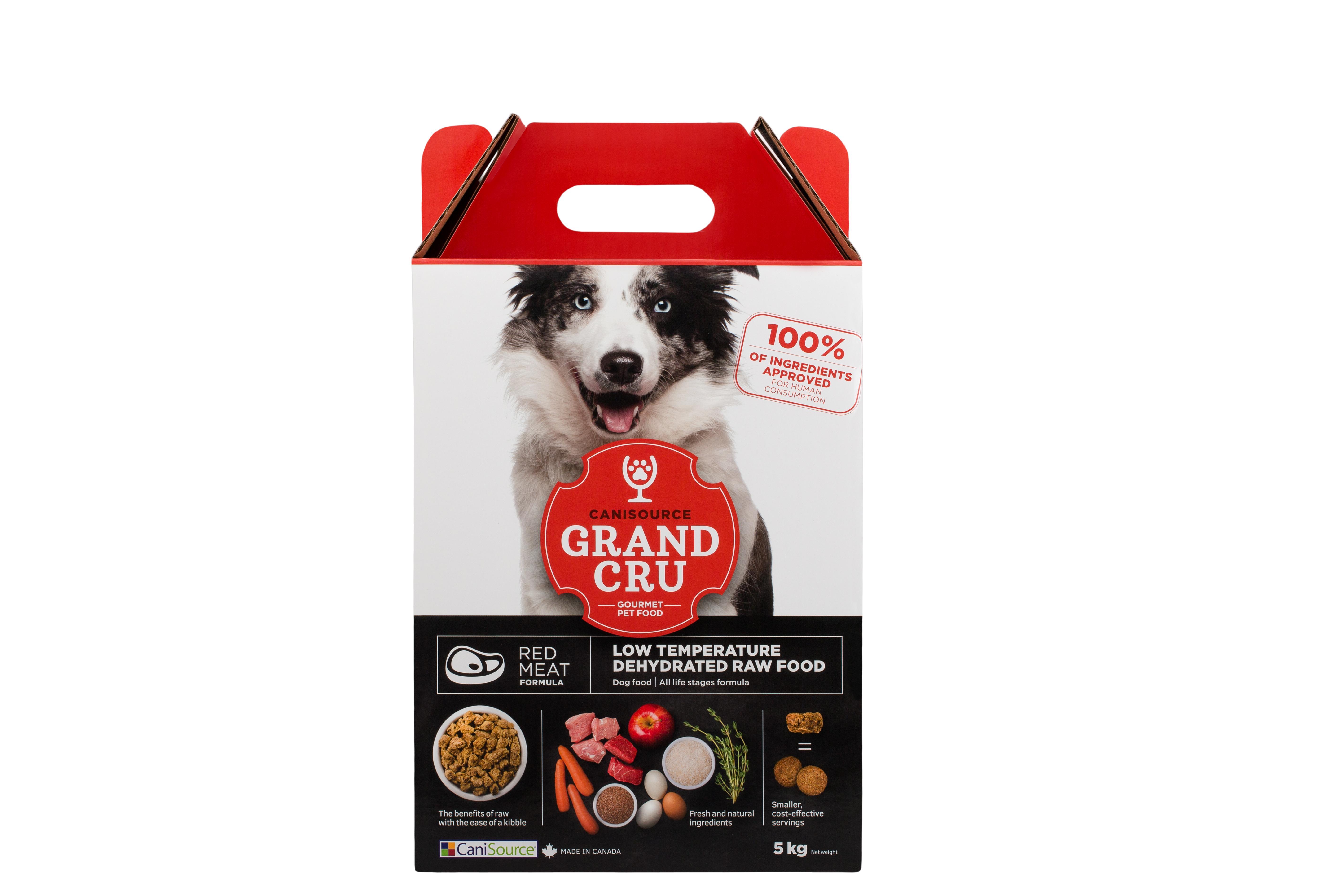 CaniSource Grand Cru Red Meat Formula Dehydrated Dog Food, 5-kg