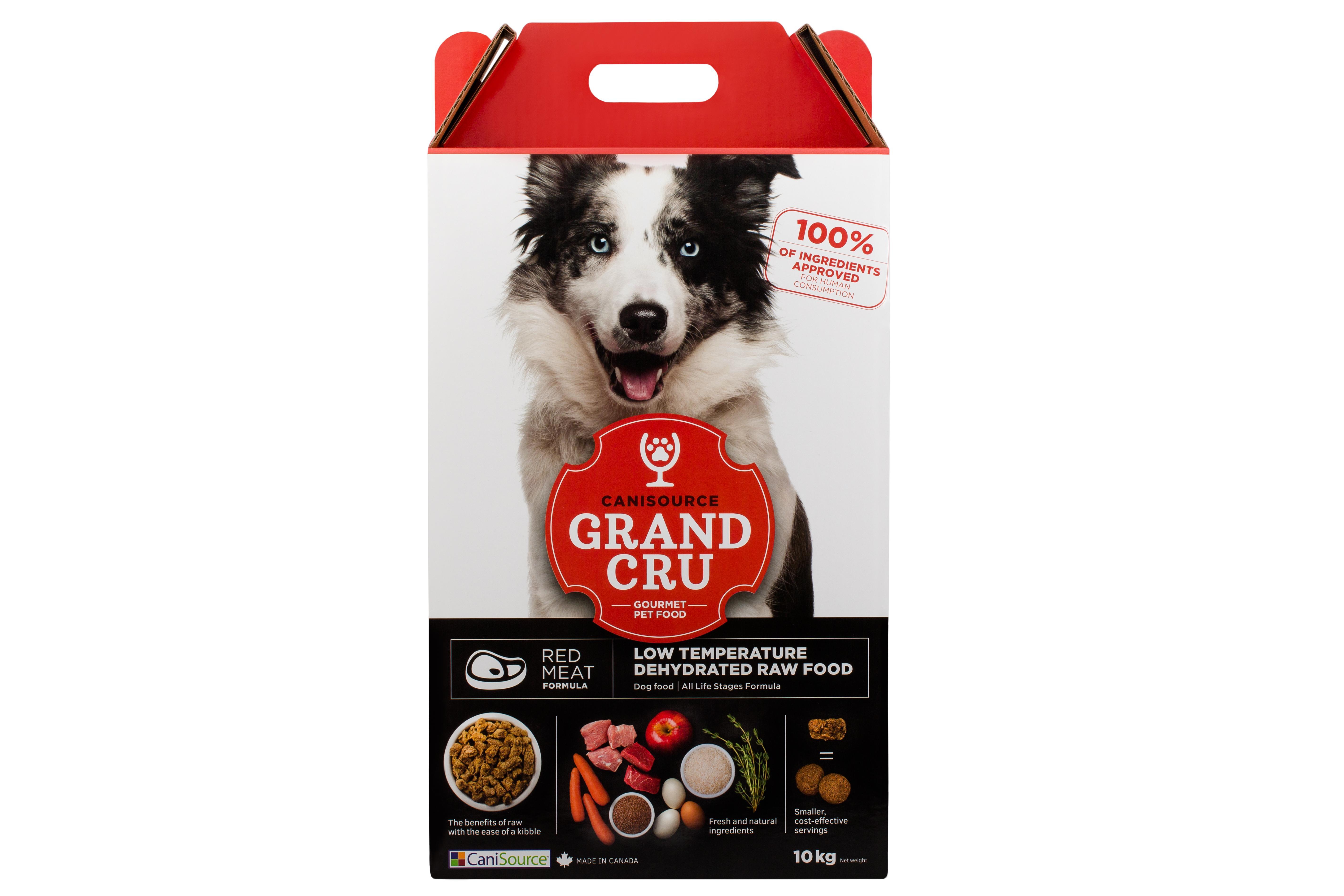 CaniSource Grand Cru Red Meat Formula Dehydrated Dog Food, 10-kg