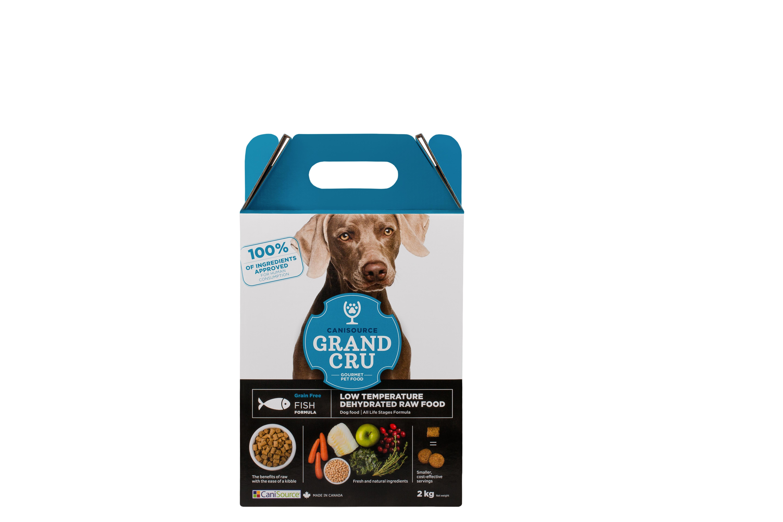 CaniSource Grand Cru Fish Formula Grain-Free Dehydrated Dog Food, 2-kg