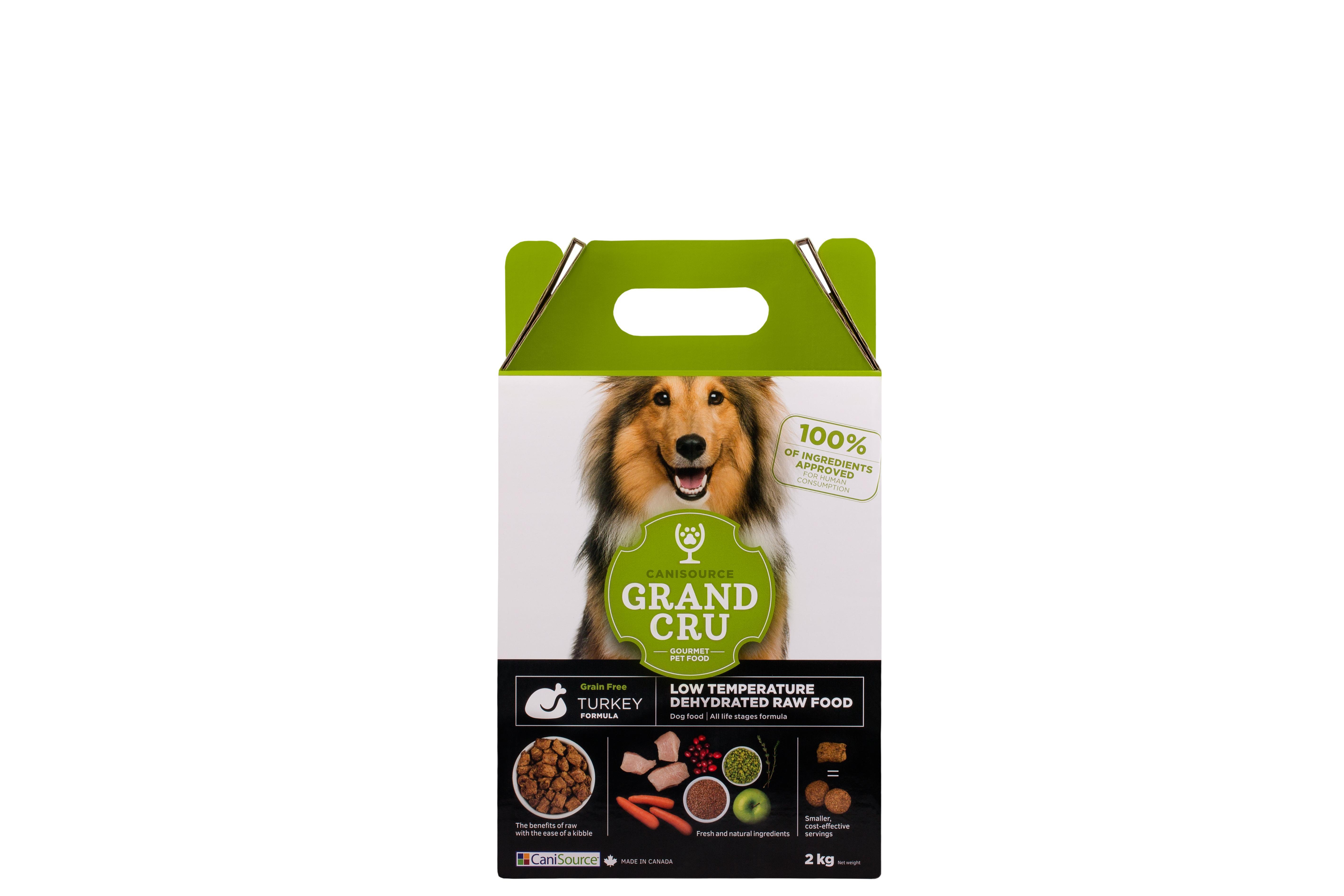 CaniSource Grand Cru Turkey Formula Grain-Free Dehydrated Dog Food, 2-kg