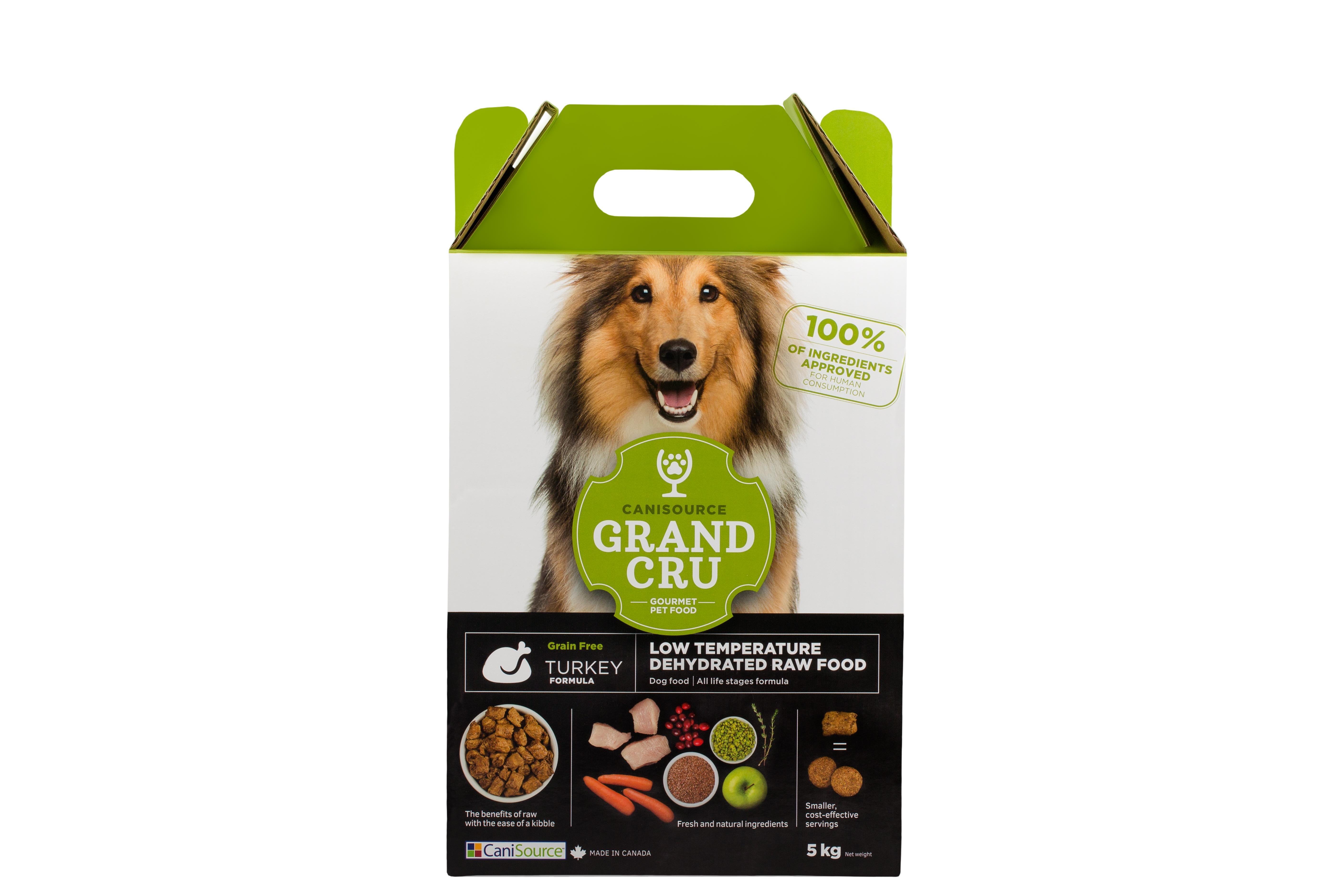 CaniSource Grand Cru Turkey Formula Grain-Free Dehydrated Dog Food, 5-kg