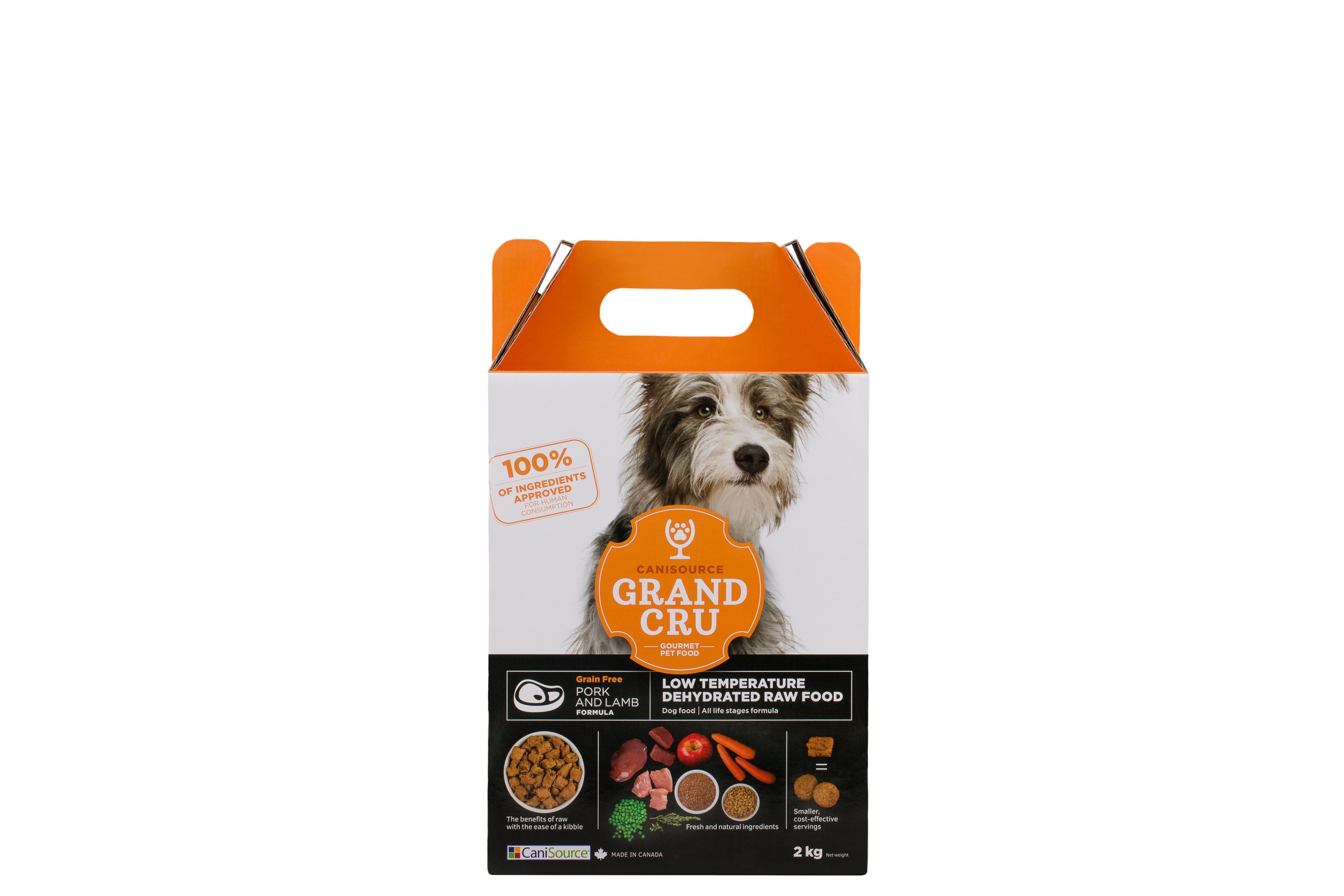 CaniSource Grand Cru Pork & Lamb Formula Grain-Free Dehydrated Dog Food, 2-kg