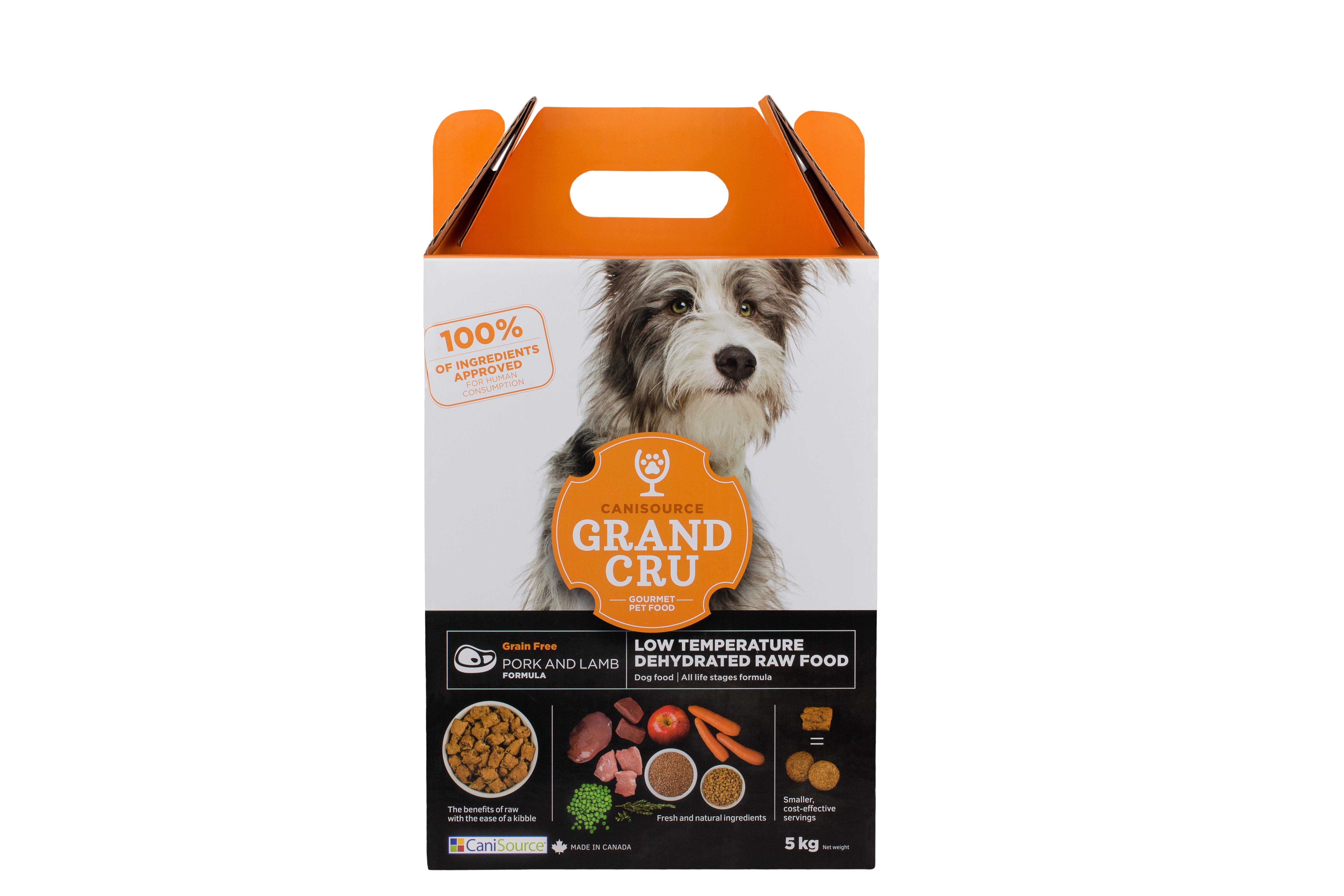 CaniSource Grand Cru Pork & Lamb Formula Grain-Free Dehydrated Dog Food, 5-kg