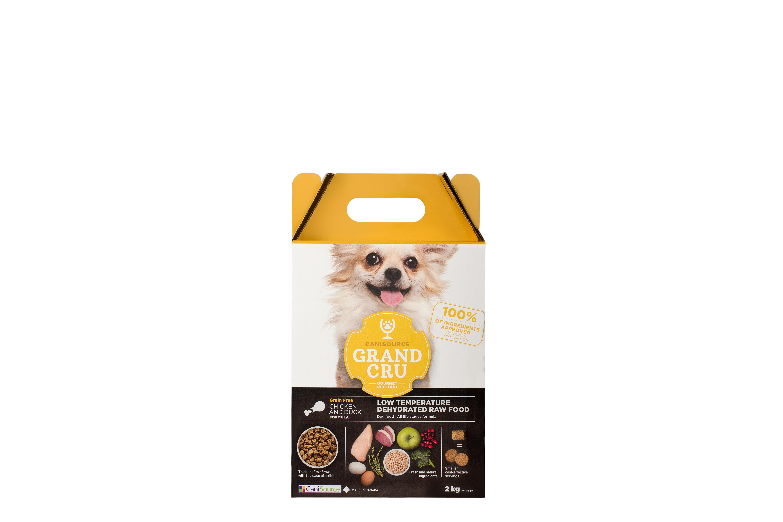 CaniSource Grand Cru Chicken & Duck Formula Grain-Free Dehydrated Dog Food, 2-kg