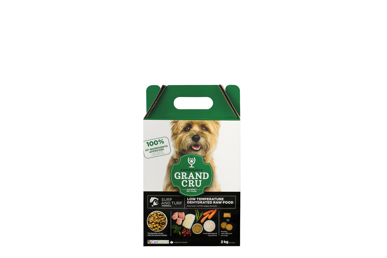 CaniSource Grand Cru Surf & Turf Formula Dehydrated Dog Food, 2-kg