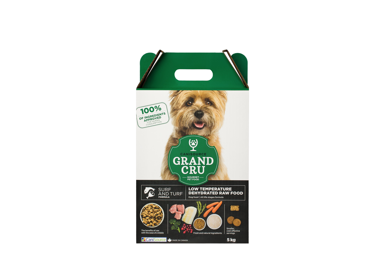 CaniSource Grand Cru Surf & Turf Formula Dehydrated Dog Food, 5-kg