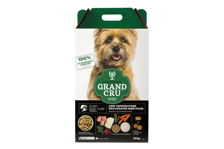 CaniSource Grand Cru Surf & Turf Formula Dehydrated Dog Food, 10-kg