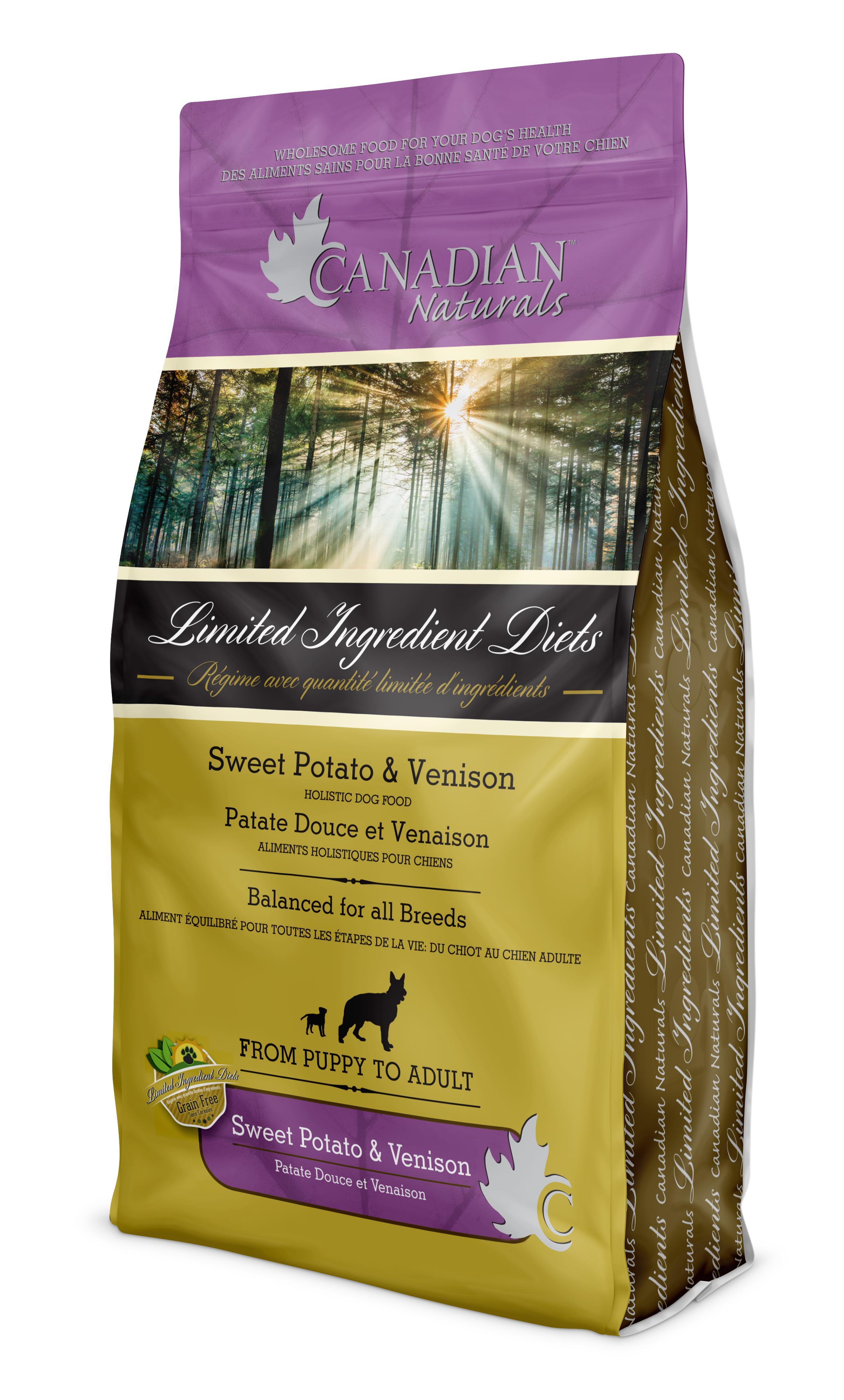 Canadian Naturals LID Sweet Potato & Venison Dry Dog Food Image