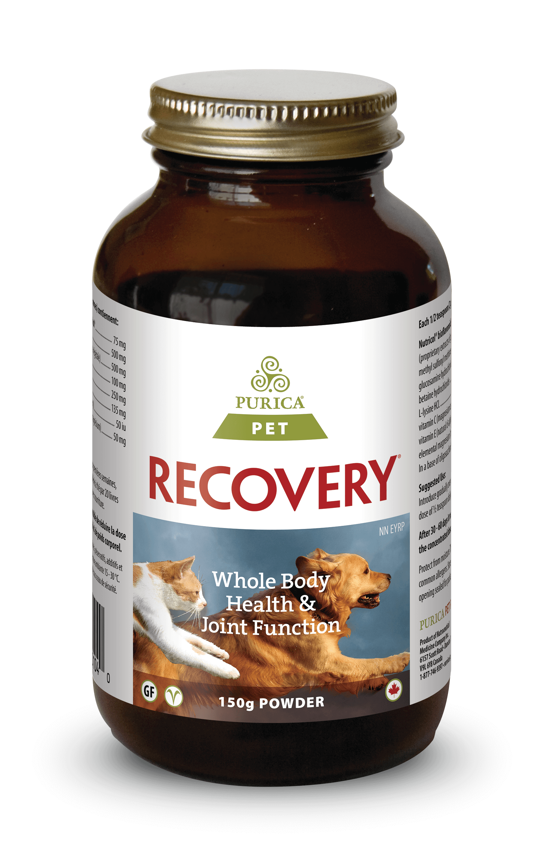 Purica Recovery Powder Dog & Cat Supplement, 150-gram