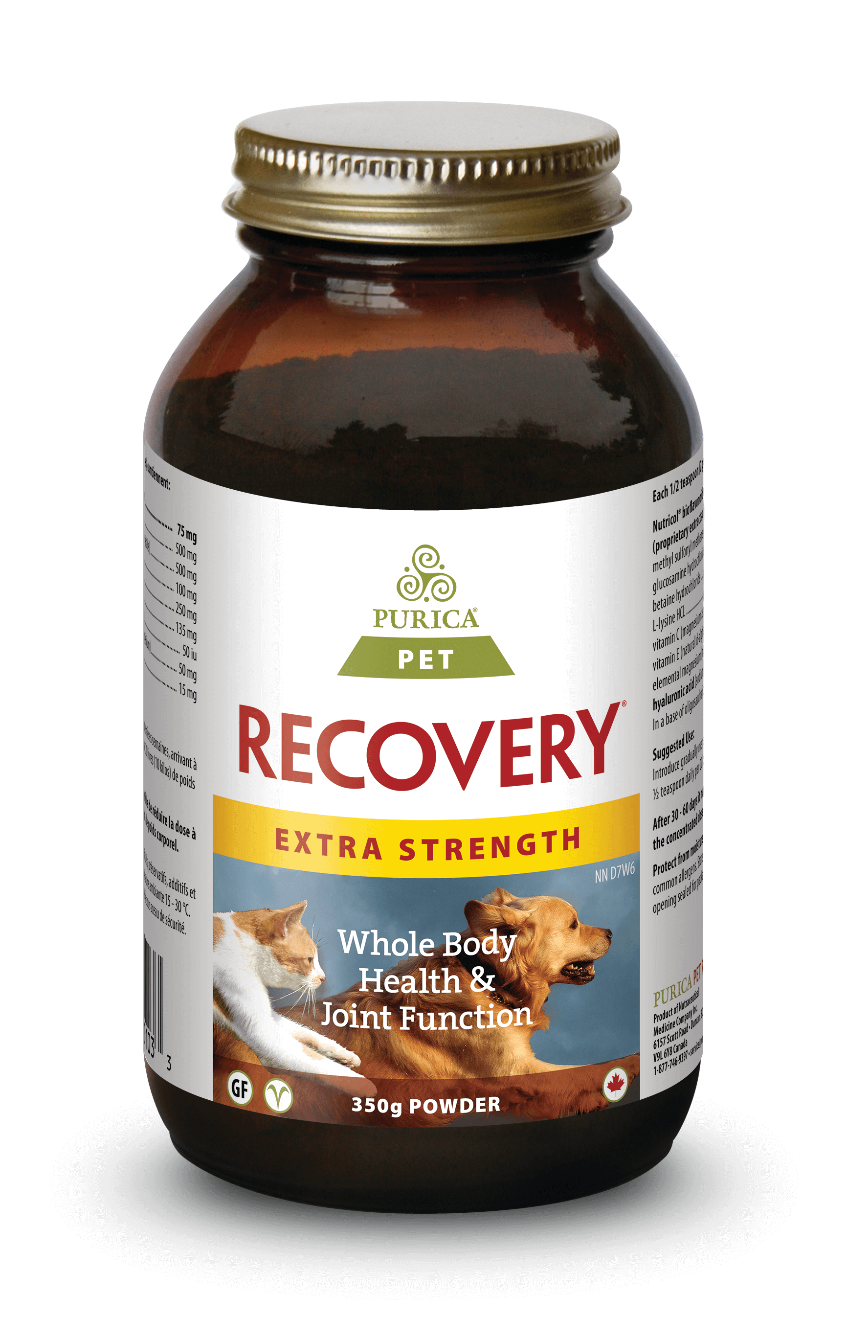 Purica Recovery Extra Strength Powder Dog & Cat Supplement, 350-gram