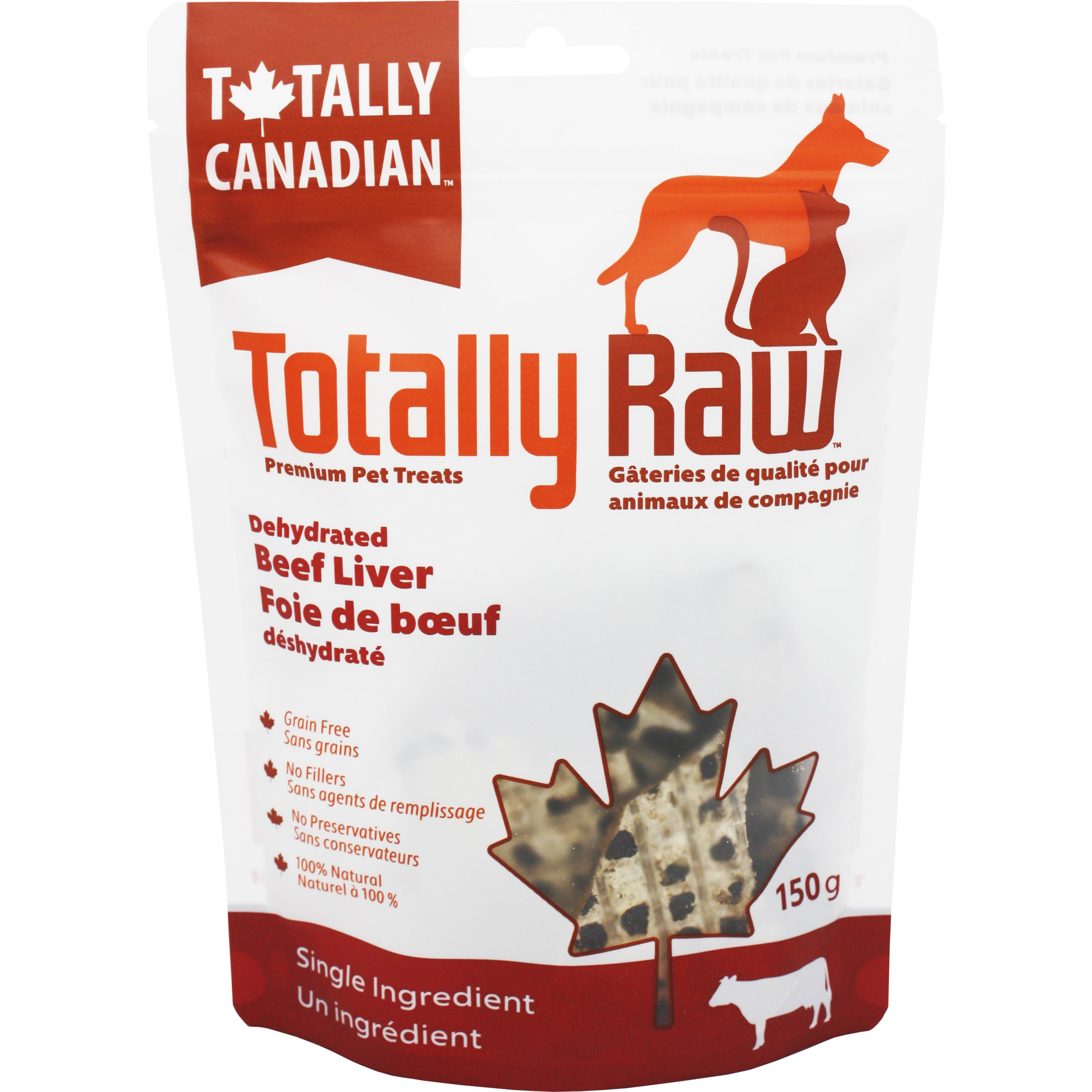 Totally Raw Pet Food Beef Liver Dehydrated Dog Treats, 150-gram