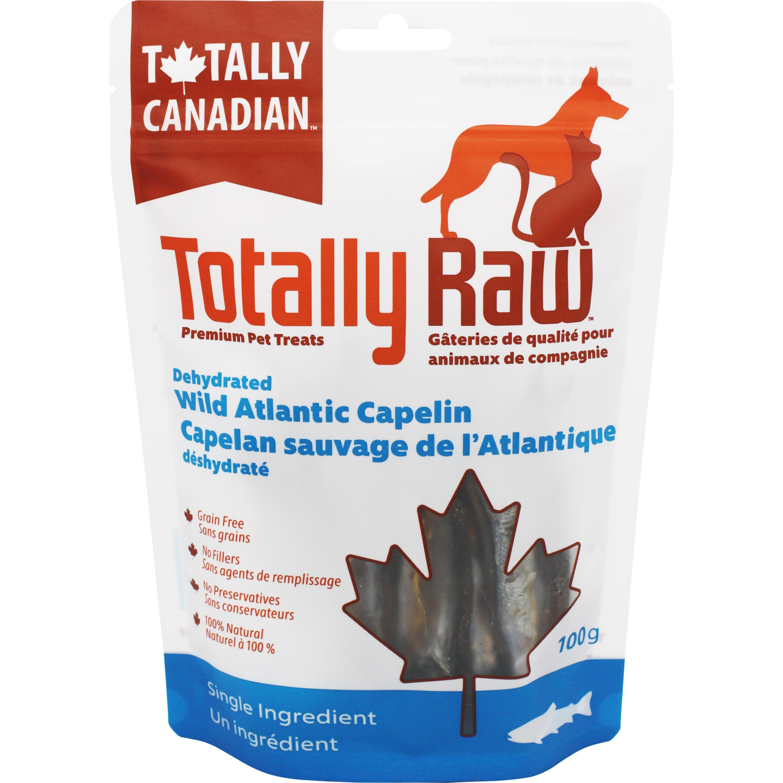 Totally Raw Pet Food Wild Atlantic Capelin Dehydrated Dog Treats, 100-gram