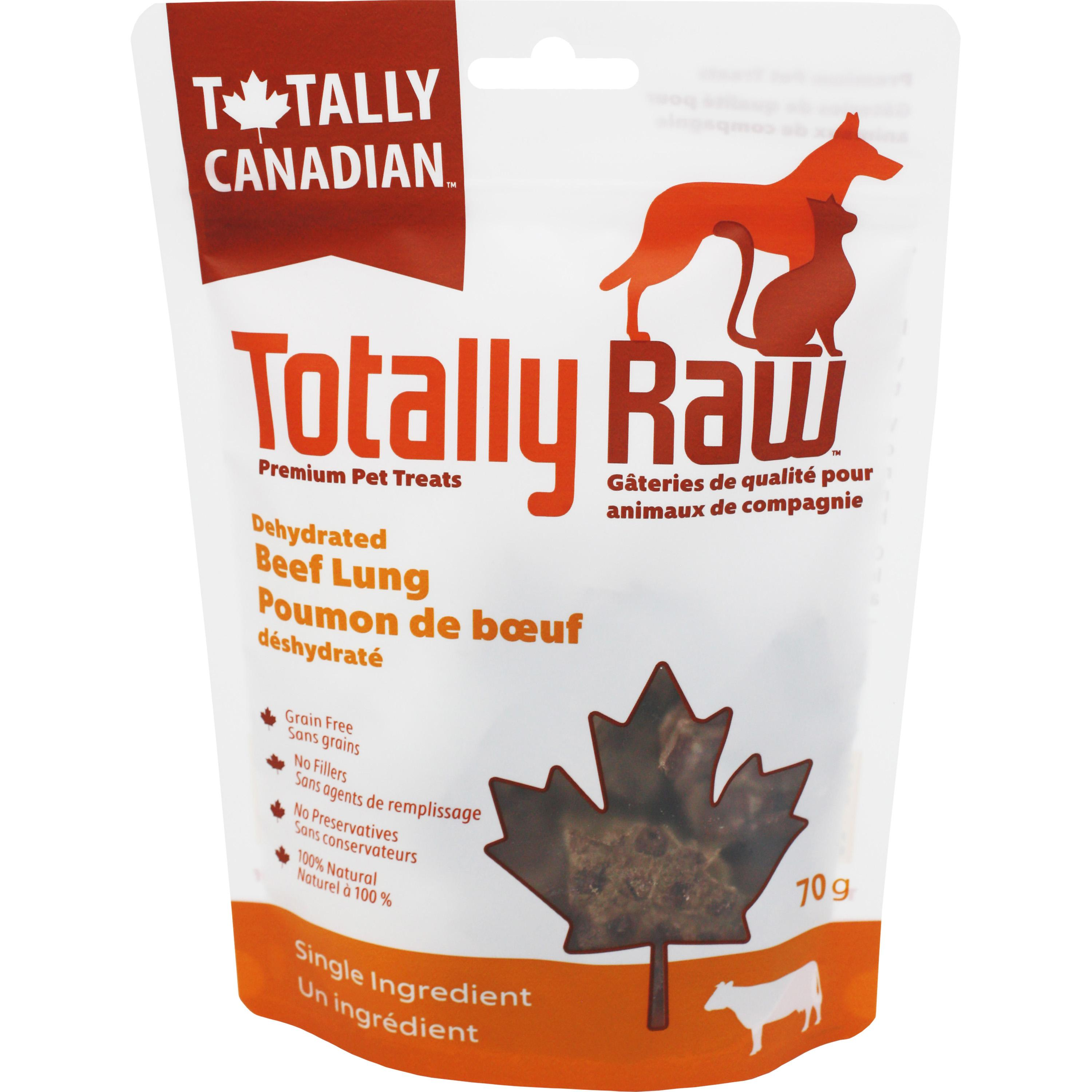 Totally Raw Pet Food Beef Lung Dehydrated Dog Treats, 70-gram
