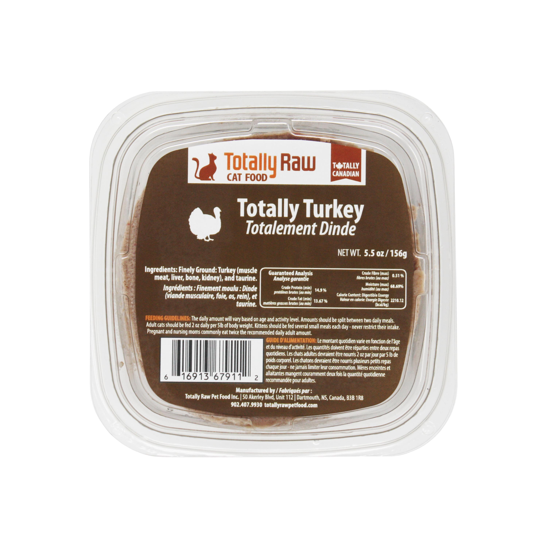 Totally Raw Pet Food Totally Turkey Frozen Cat Food, 156-gram
