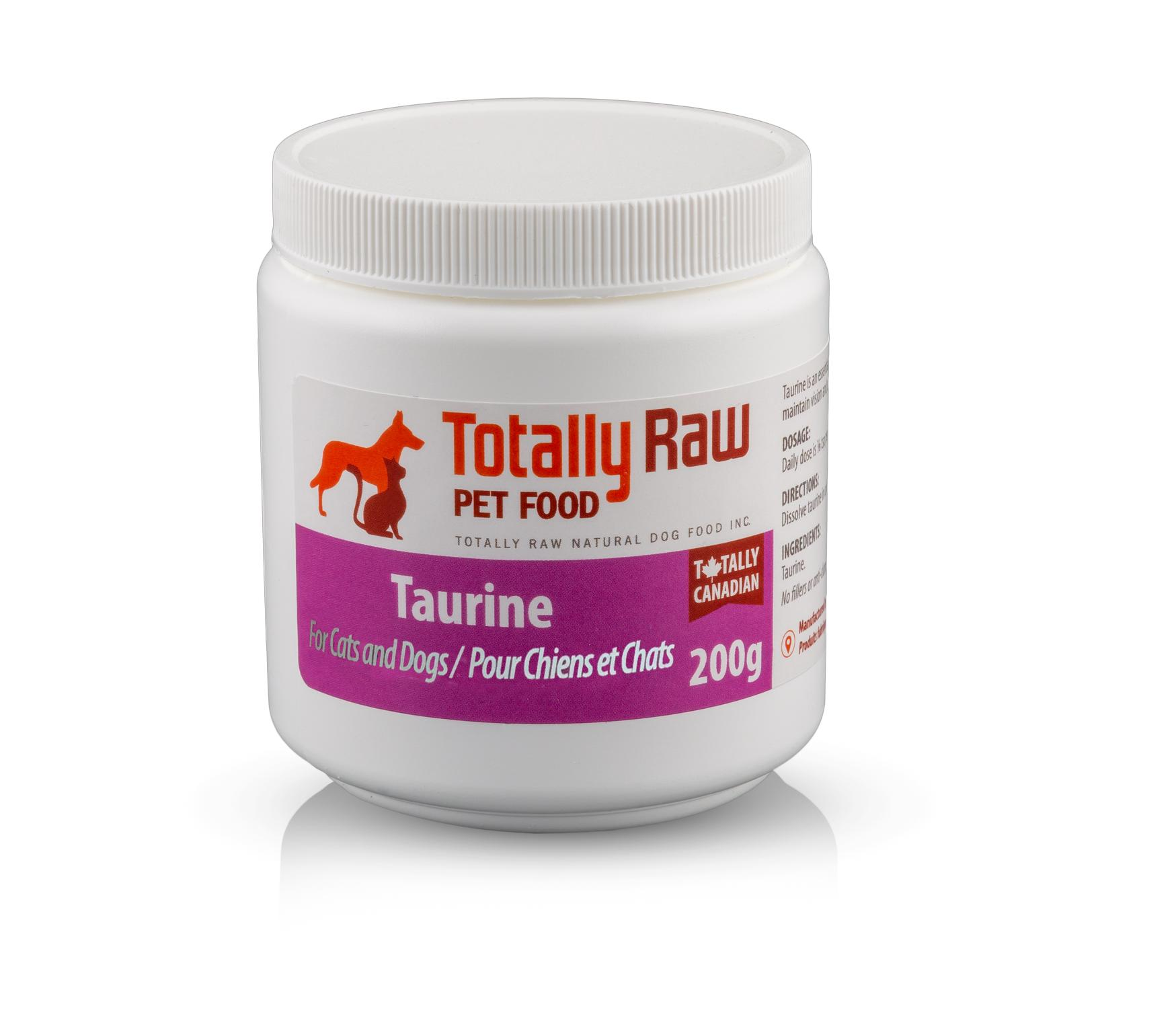 Totally Raw Pet Food Taurine Pet Supplement, 200-gram