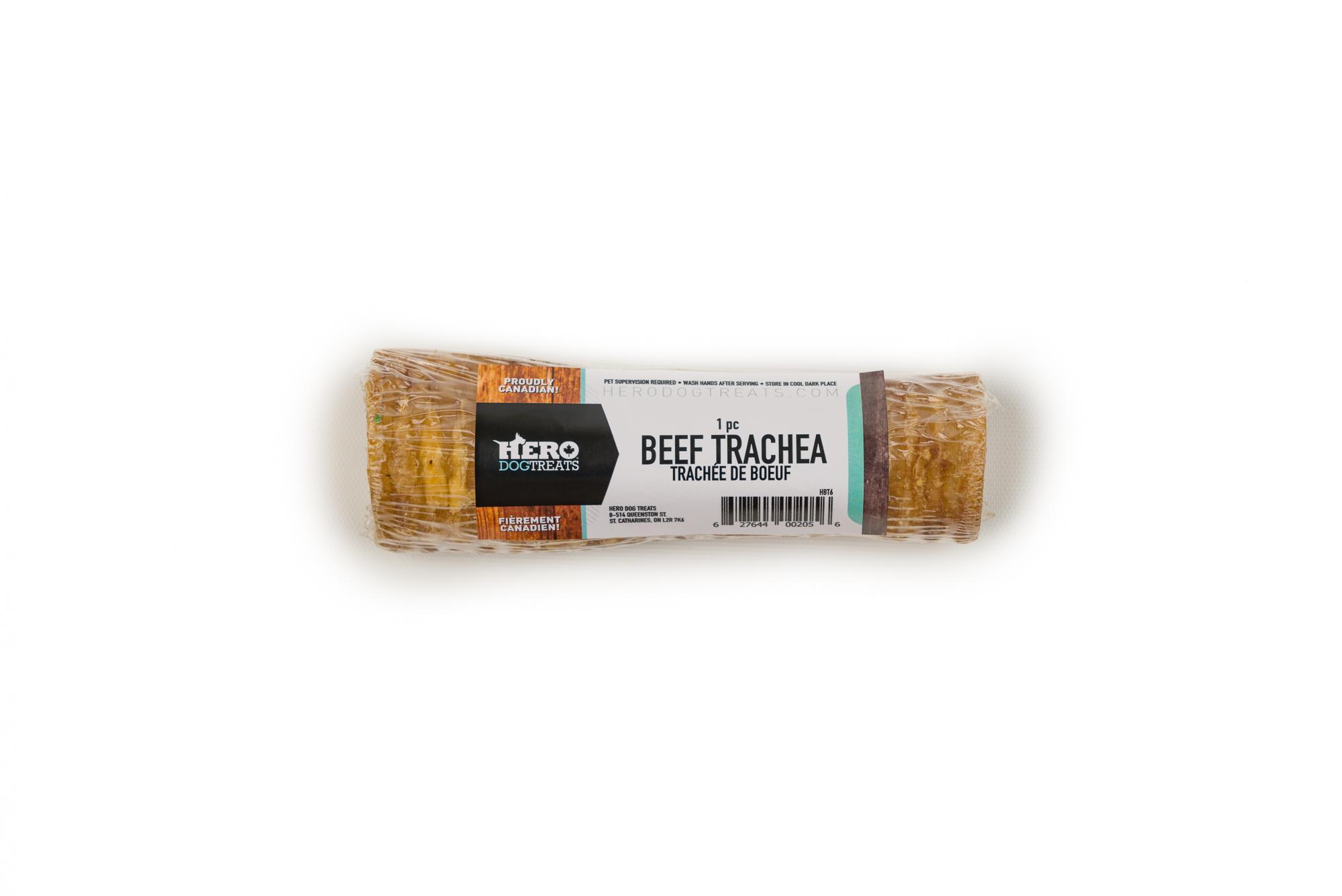 HeroDogTreats Beef Trachea Dog Treats, 6-in