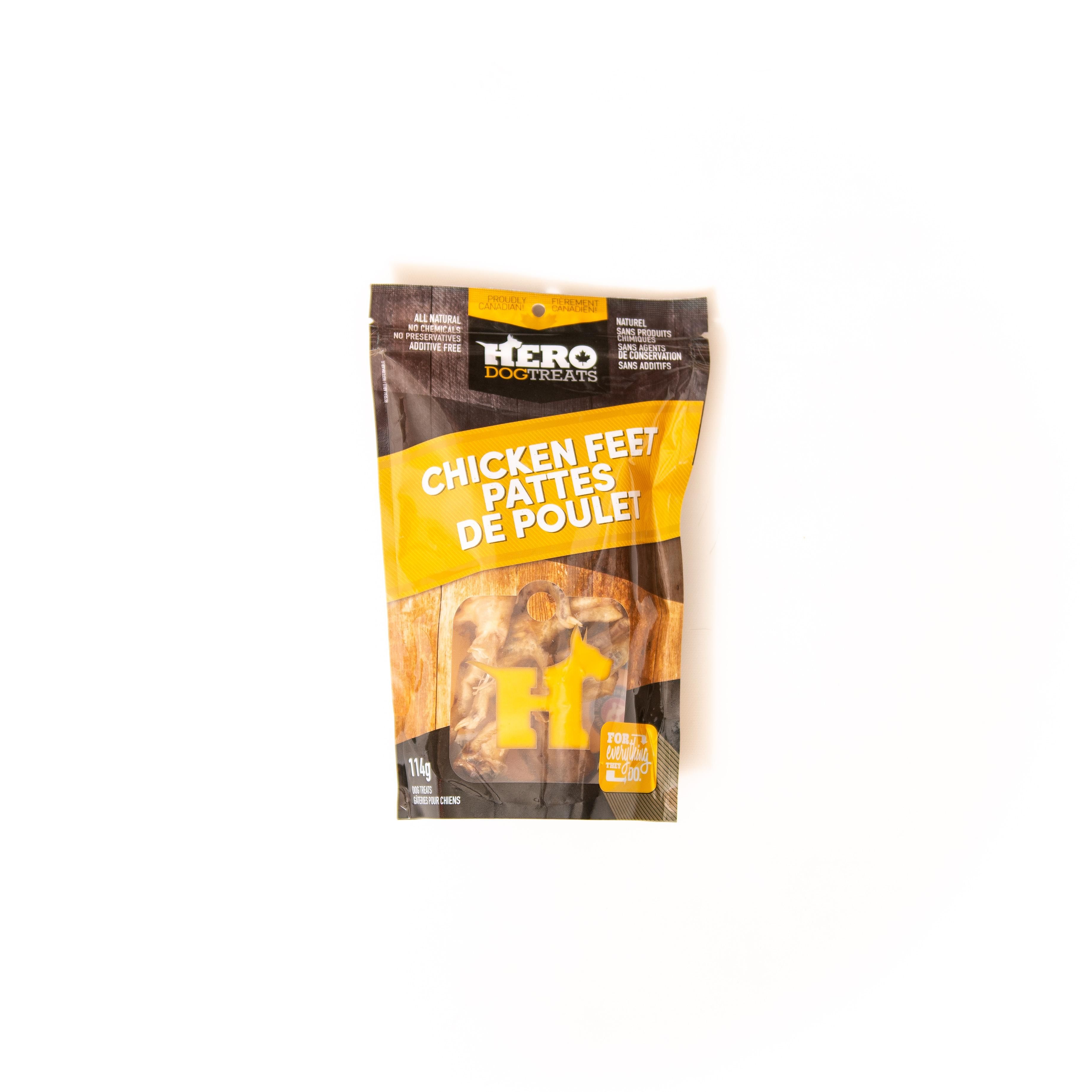 HeroDogTreats Chicken Feet Dog Treats, 114-gram