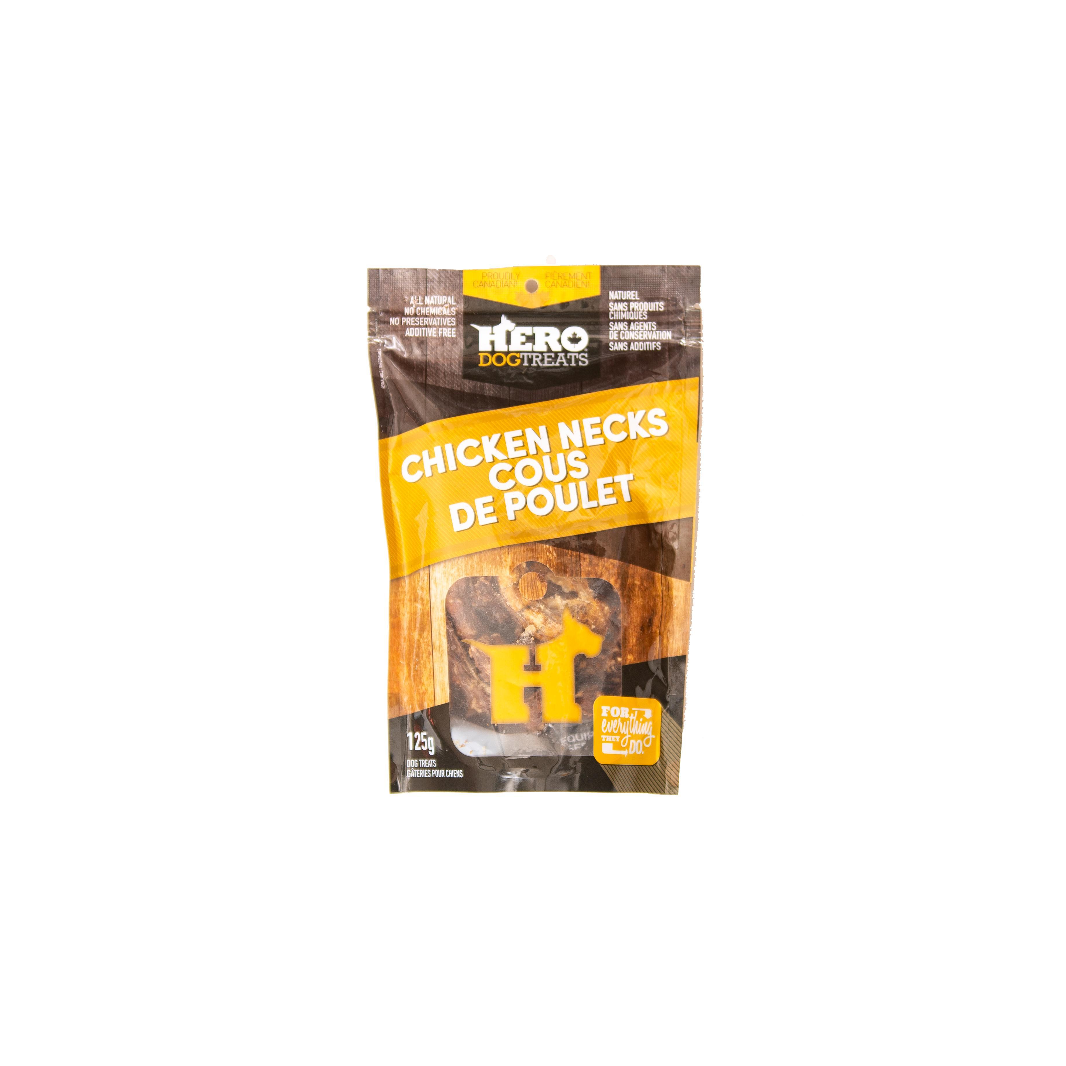HeroDogTreats Chicken Necks Dog Treats, 125-gram