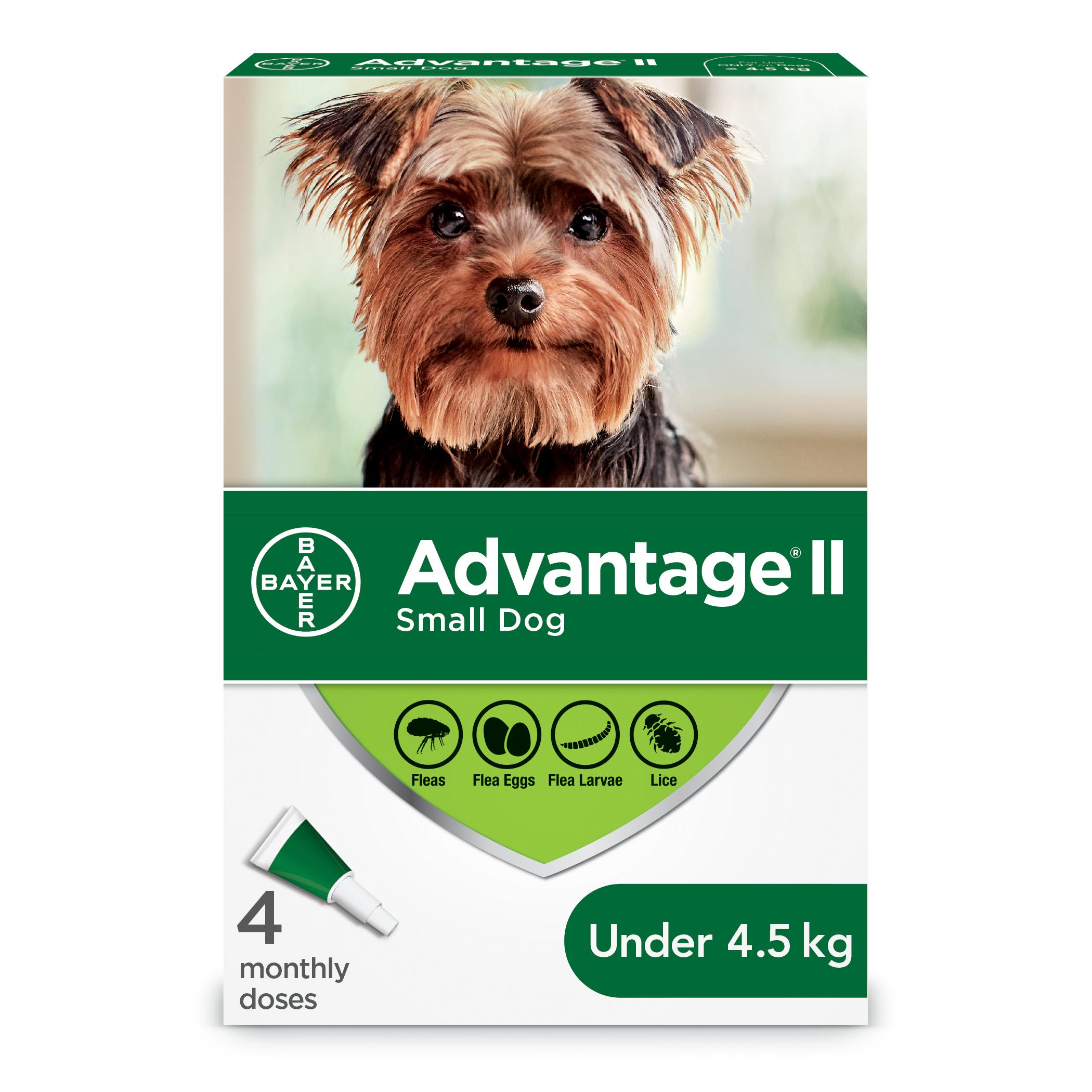 Bayer Advantage II Flea Protection for Small Dogs under 4.5-kg, 4-pk