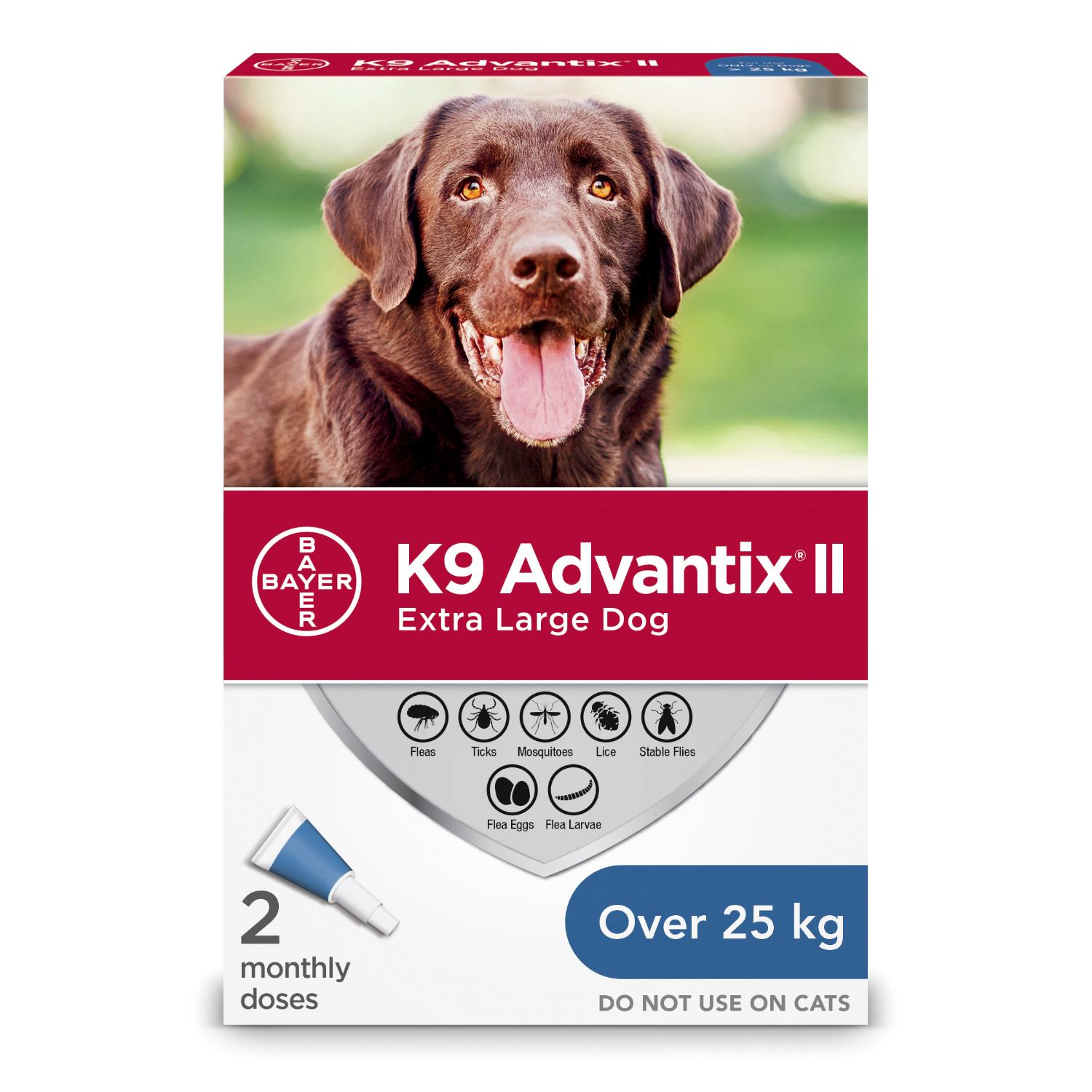 Bayer K9 Advantix II Flea Protection for Extra Large Dogs over 25-kg, 2-pk