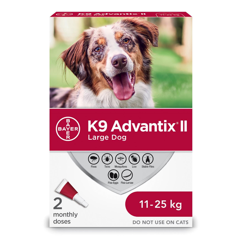 Bayer K9 Advantix II Flea Protection for Large Dogs 11-25-kg, 2-pk