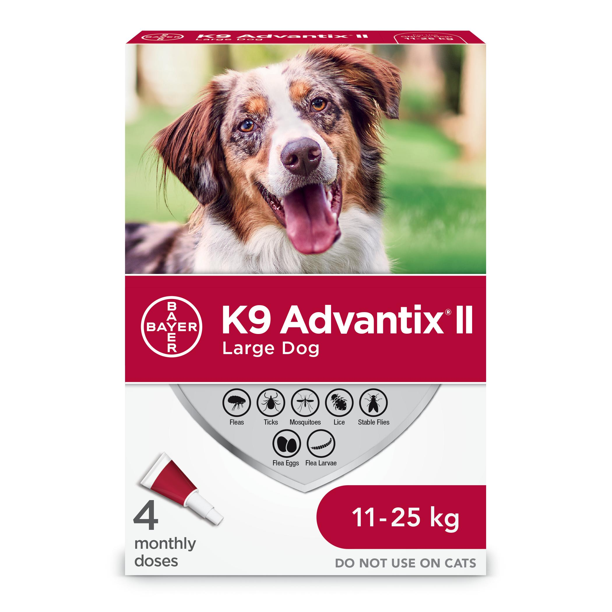 Bayer K9 Advantix II Flea Protection for Large Dogs 11-25-kg, 4-pk