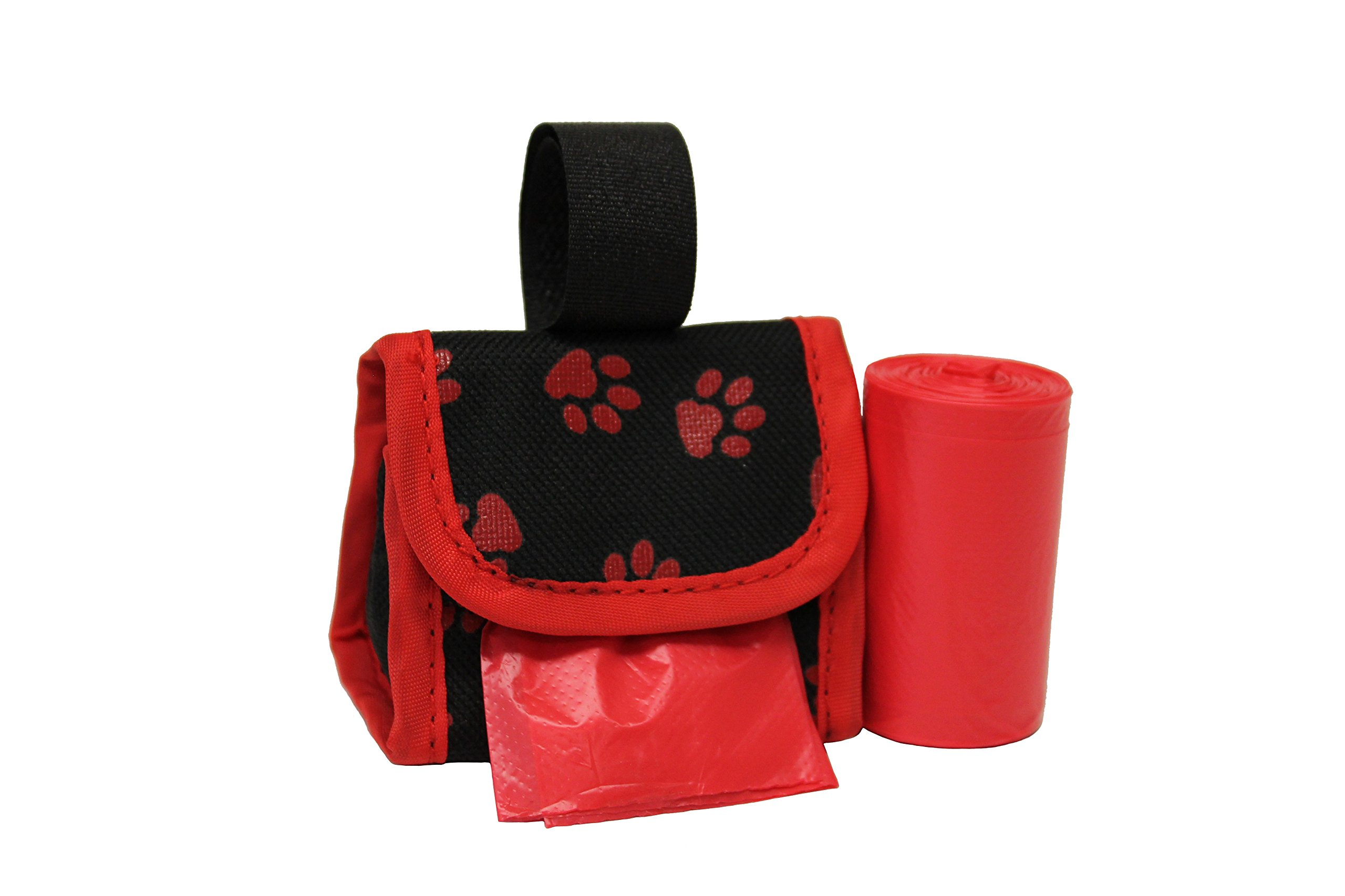 Five Star Pet Purse Waste Bag Dispenser for Pets, Red with Paws