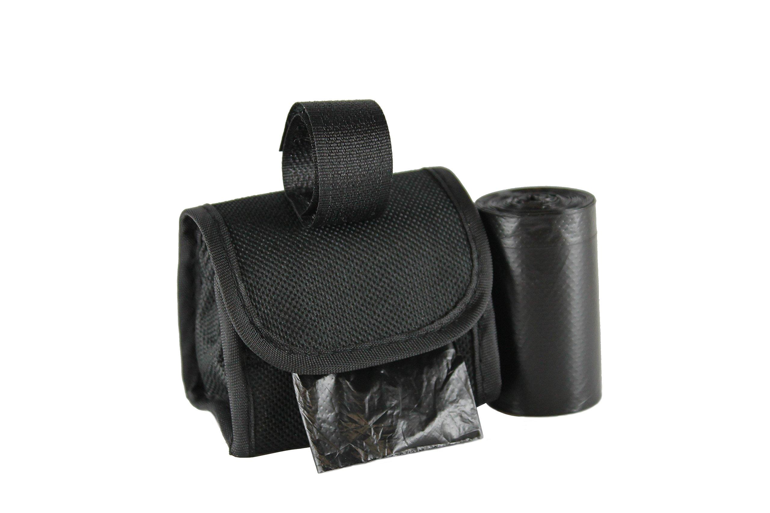 Five Star Pet Purse Waste Bag Dispenser for Pets, Solid Black