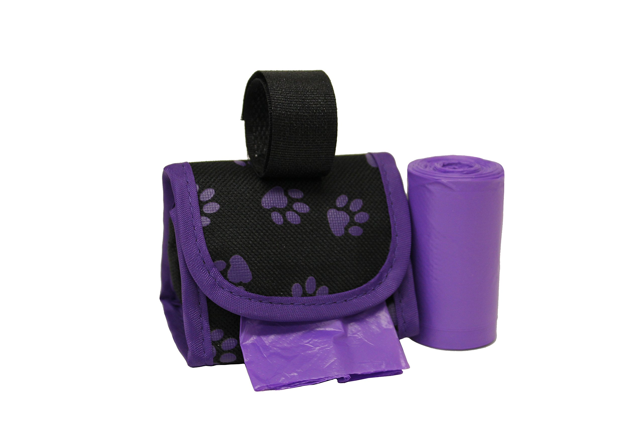 Five Star Pet Purse Waste Bag Dispenser for Pets, Purple with Paws