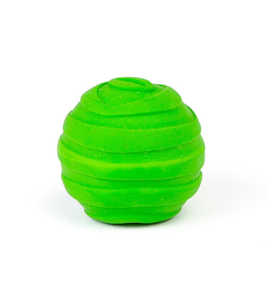 Bud'z Mini Latex Ball Squeaker Dog Toy, Green, 5-cm