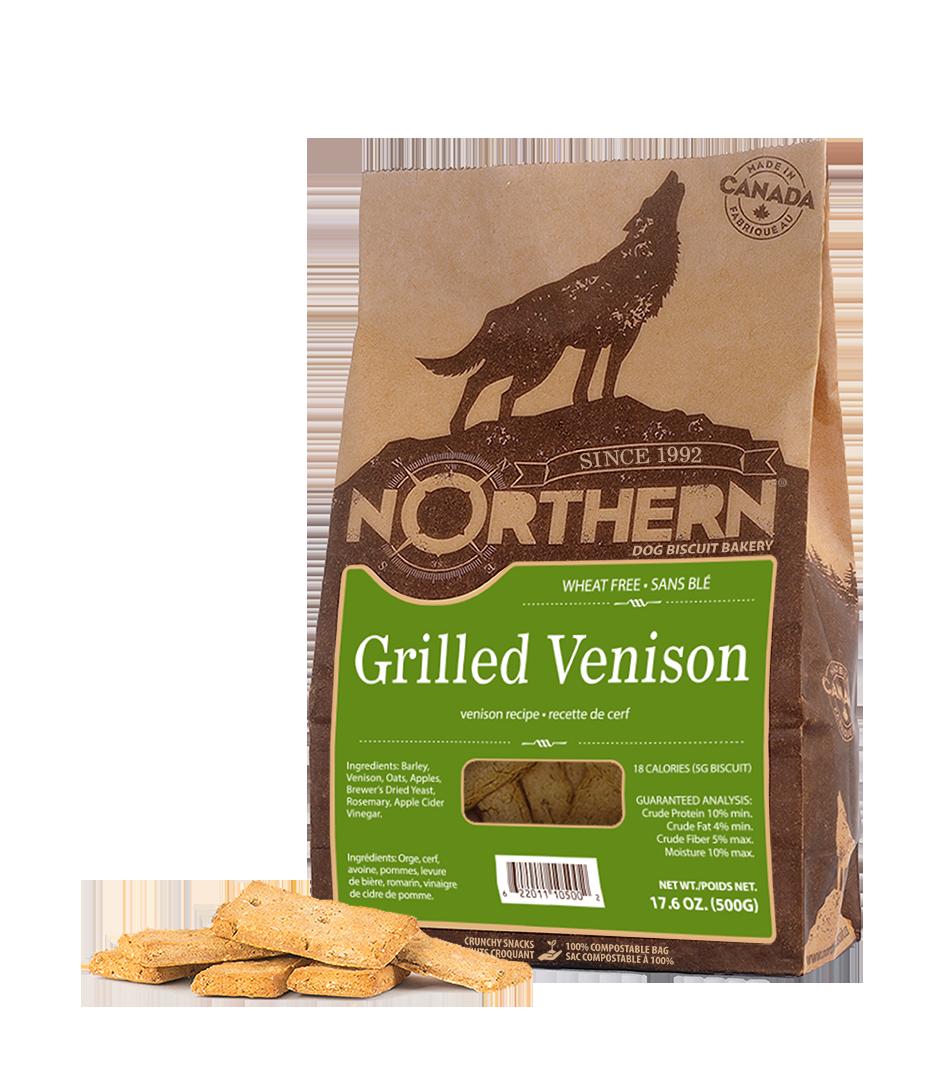 Northern Biscuit Grilled Venison Dog Treats, 500-gram