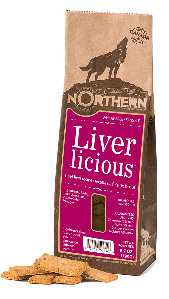 Northern Biscuit Liverlicious Dog Treats, 190-gram