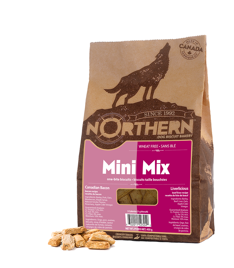 Northern Biscuit Mini Mix Canadian Bacon & Liverlicious Dog Treats, 450-gram