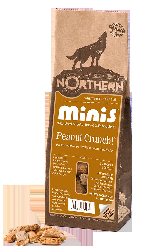 Northern Biscuit Peanut Crunch! Minis Dog Treats, 190-gram