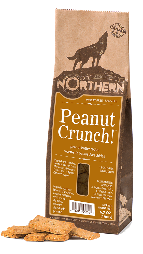 Northern Biscuit Peanut Crunch! Dog Treats, 190-gram