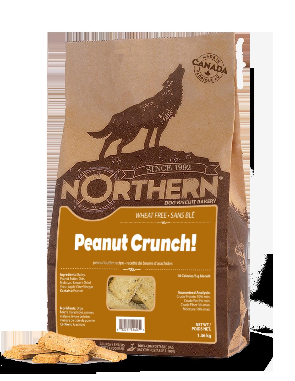 Northern Biscuit Peanut Crunch! Dog Treats, 1.36-kg