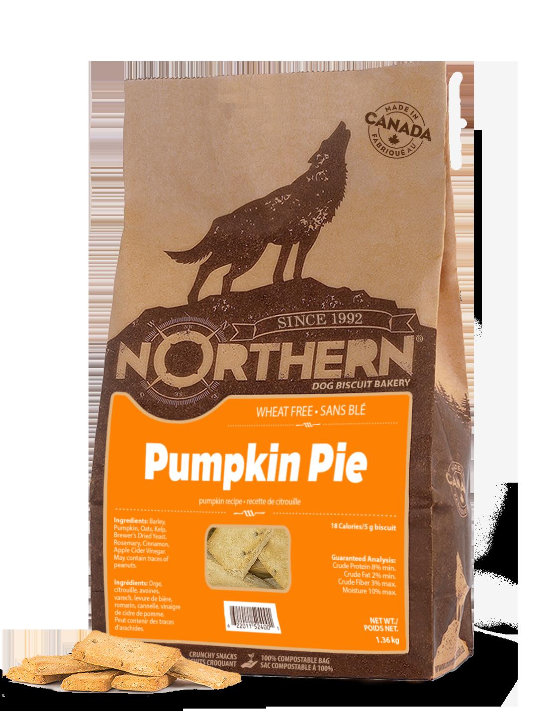 Northern Biscuit Pumpkin Pie Dog Treats, 1.36-kg Size: 1.36-kg