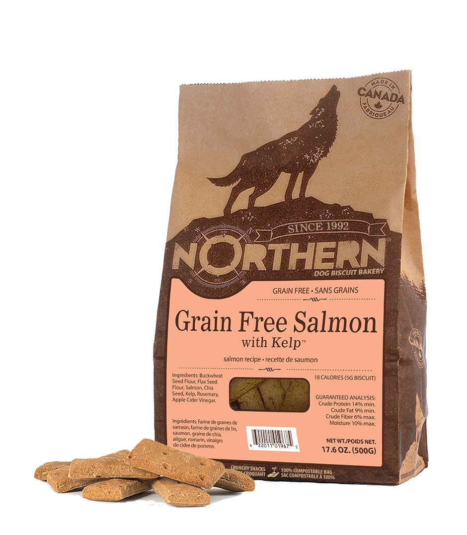 Northern Biscuit Salmon with Kelp Grain-Free Dog Treats, 500-gram