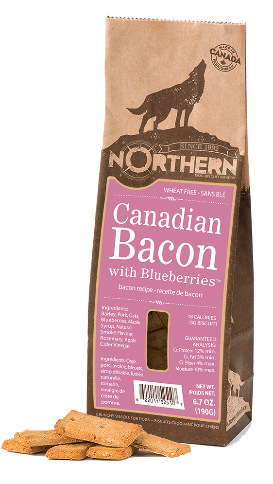 Northern Biscuit Canadian Bacon with Blueberries Dog Treats, 190-gram