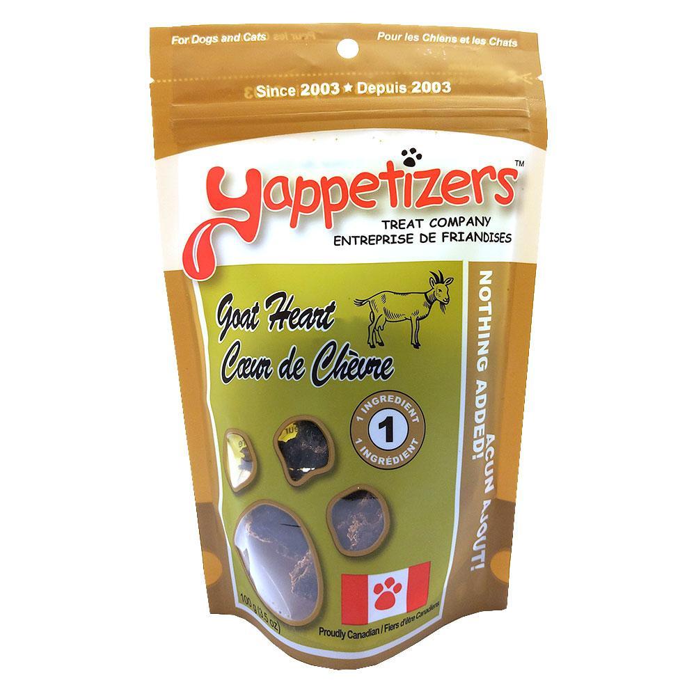 Yappetizers Goat Heart Dog & Cat Treats, 100-gram