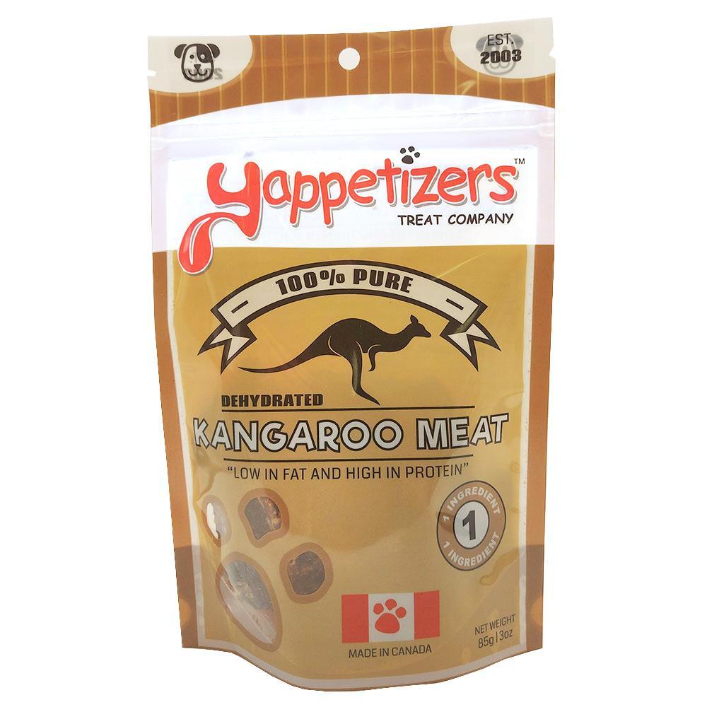 Yappetizers Kangaroo Meat Dehydrated Dog Treats, 85-gram