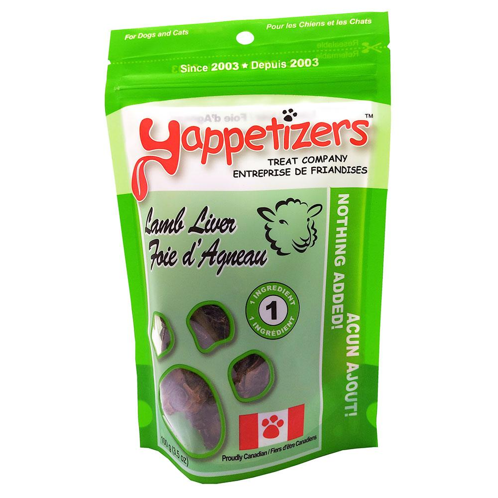 Yappetizers Lamb Liver Dog & Cat Treats, 100-gram