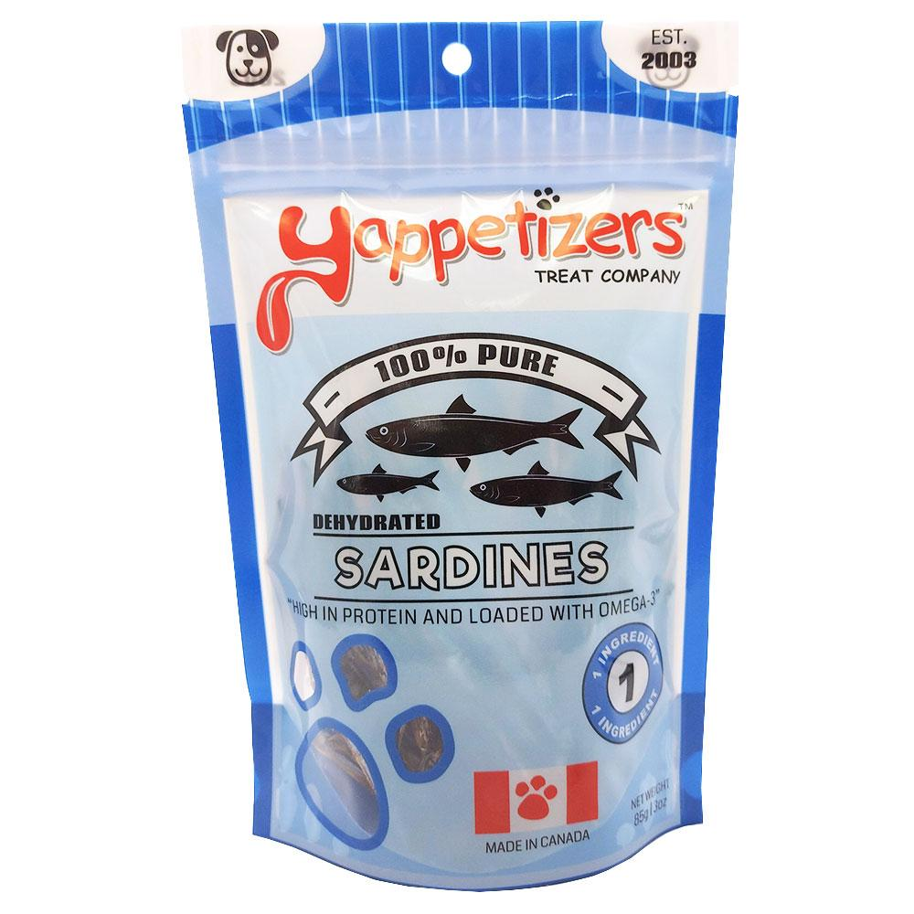 Yappetizers Sardines Dehydrated Dog Treats, 85-gram
