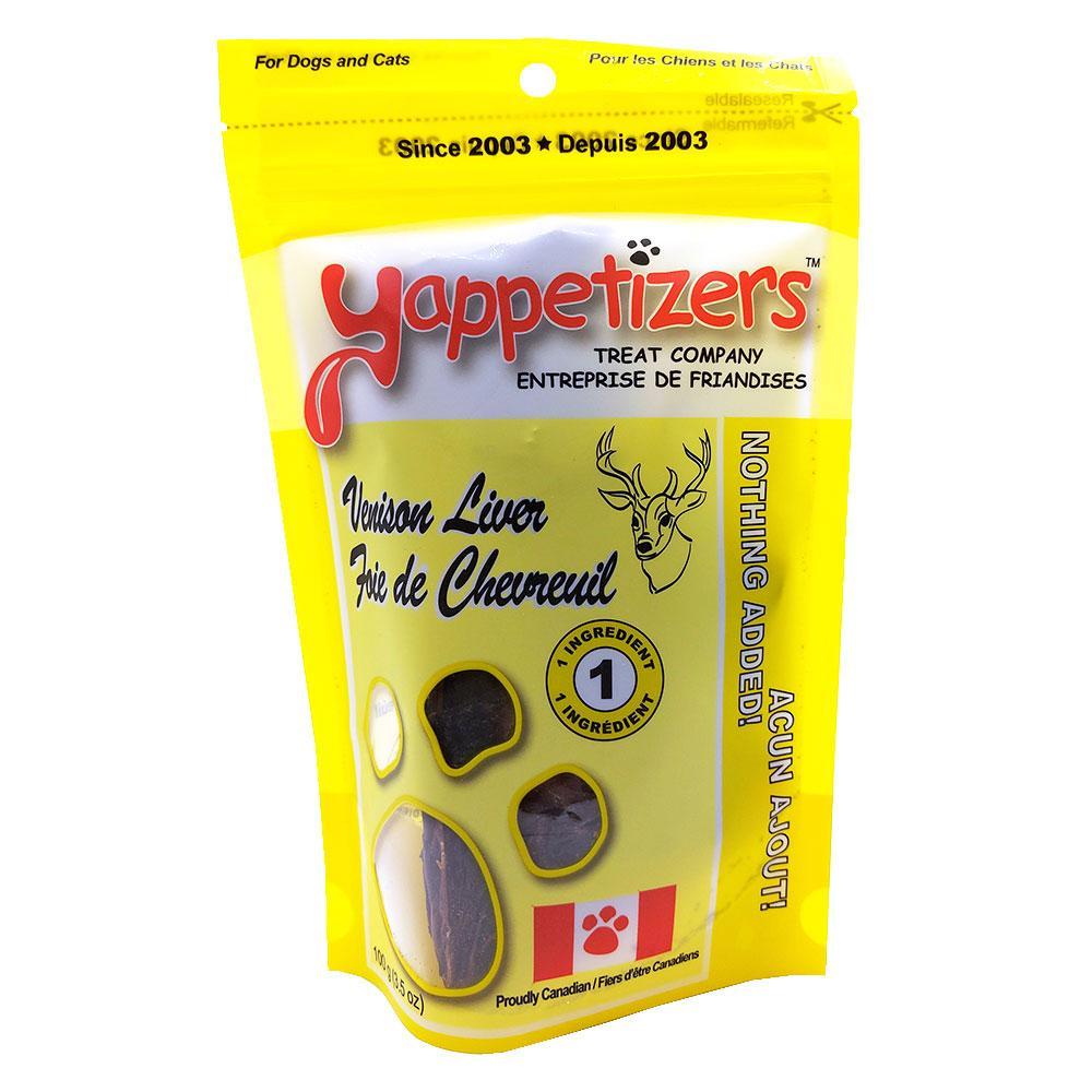 Yappetizers Venison Liver Dog & Cat Treats, 100-gram