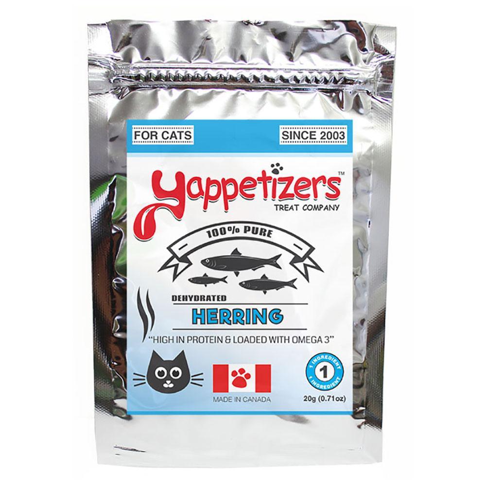 Yappetizers Herring Dehydrated Cat Treats, 20-gram