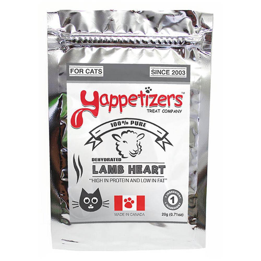 Yappetizers Lamb Heart Dehydrated Cat Treats, 20-gram