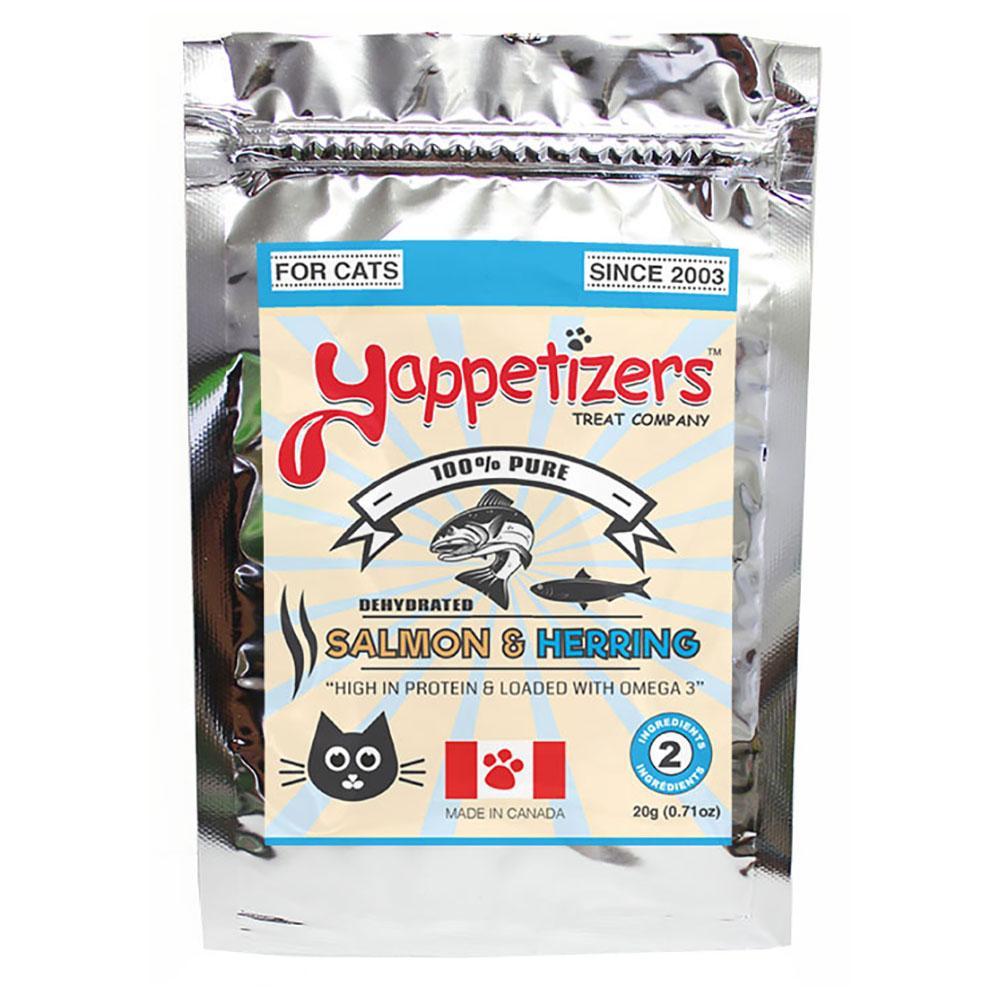 Yappetizers Salmon & Herring Dehydrated Cat Treats, 20-gram