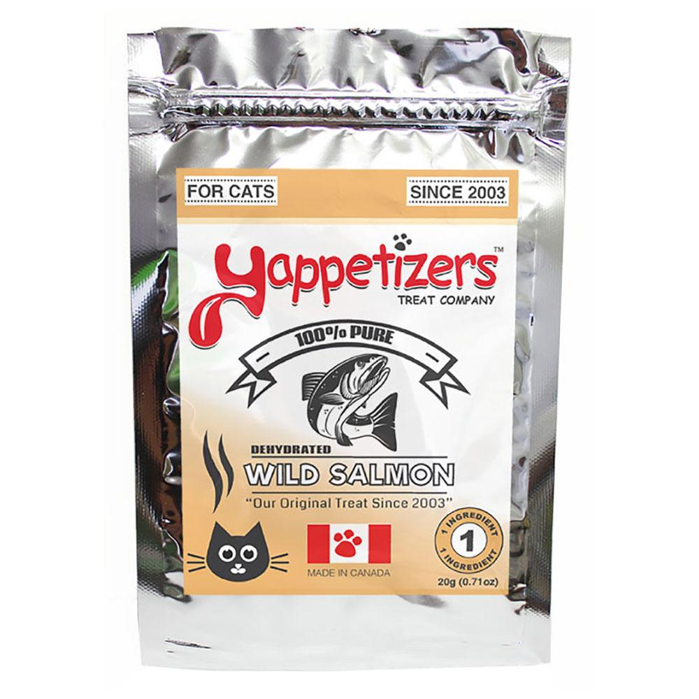 Yappetizers Dehydrated Wild Salmon Cat Treats, 20-gram